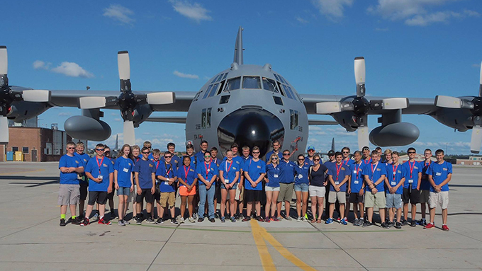 ACE Camp tours C-130