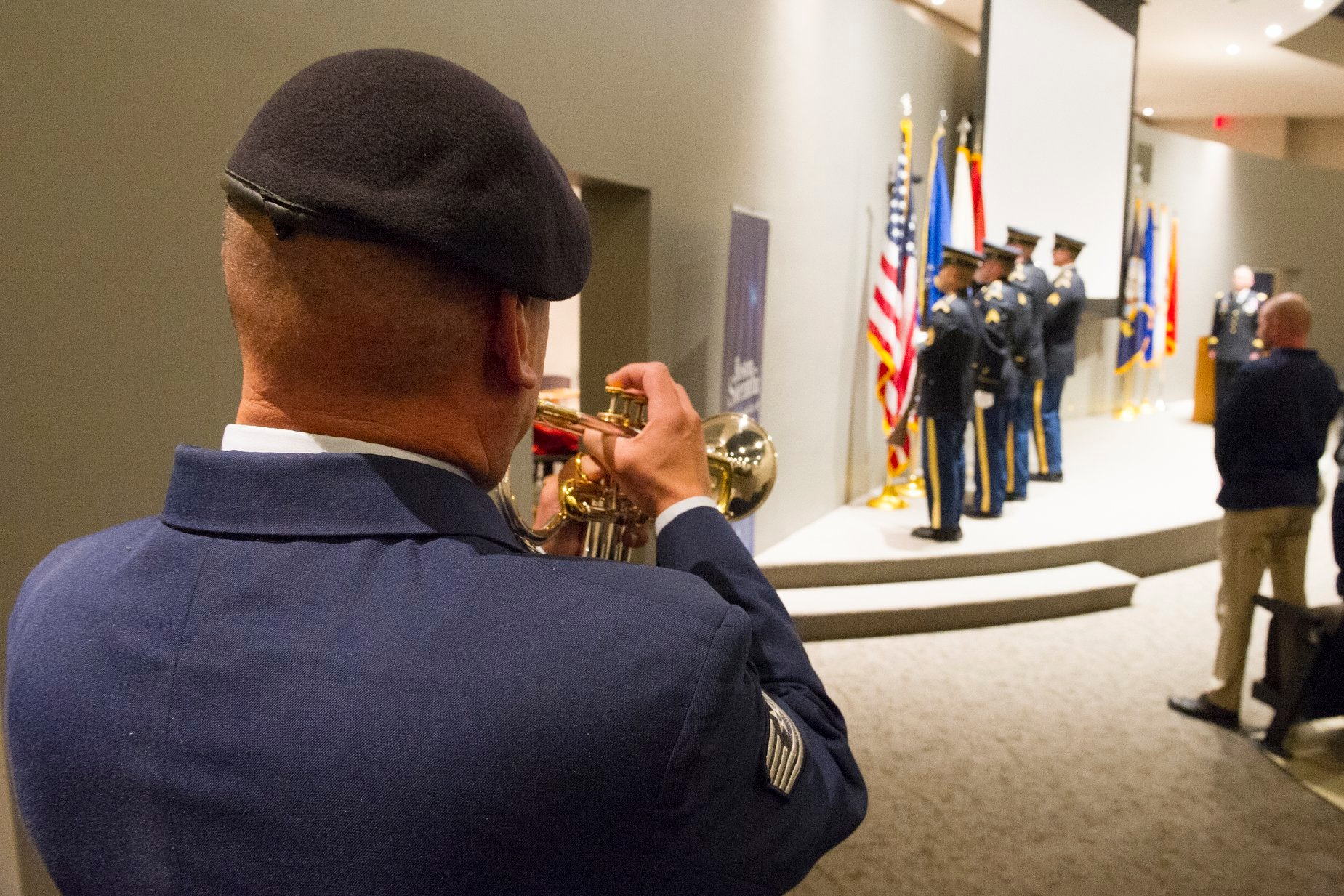 934th Airmen plays national anthem at Yellow Ribbon Ceremony